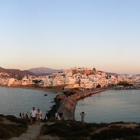 Chora - Naxos, the city. View from Portara.